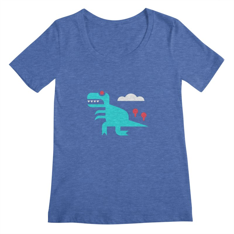 Tee-Rex Women's Scoopneck by Cam Hoff on Threadless