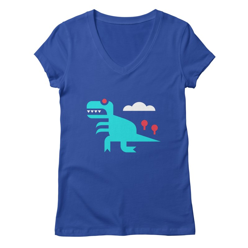 Tee-Rex Women's V-Neck by Cam Hoff on Threadless