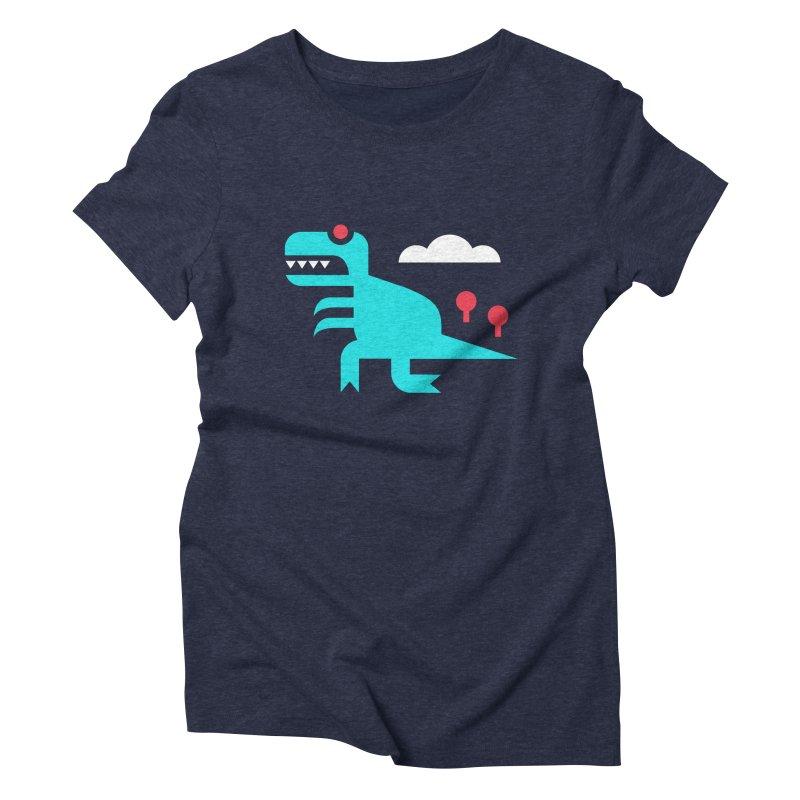 Tee-Rex Women's Triblend T-shirt by Cam Hoff on Threadless
