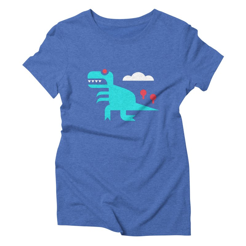 Tee-Rex Women's Triblend T-shirt by Cam Hoff on Threadless