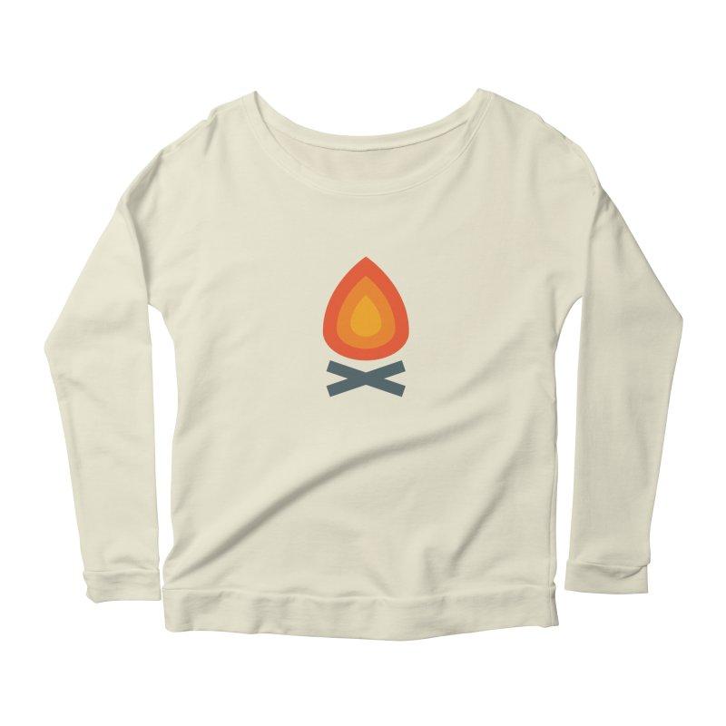 Campfire Media Logo Women's Scoop Neck Longsleeve T-Shirt by Campfire Media