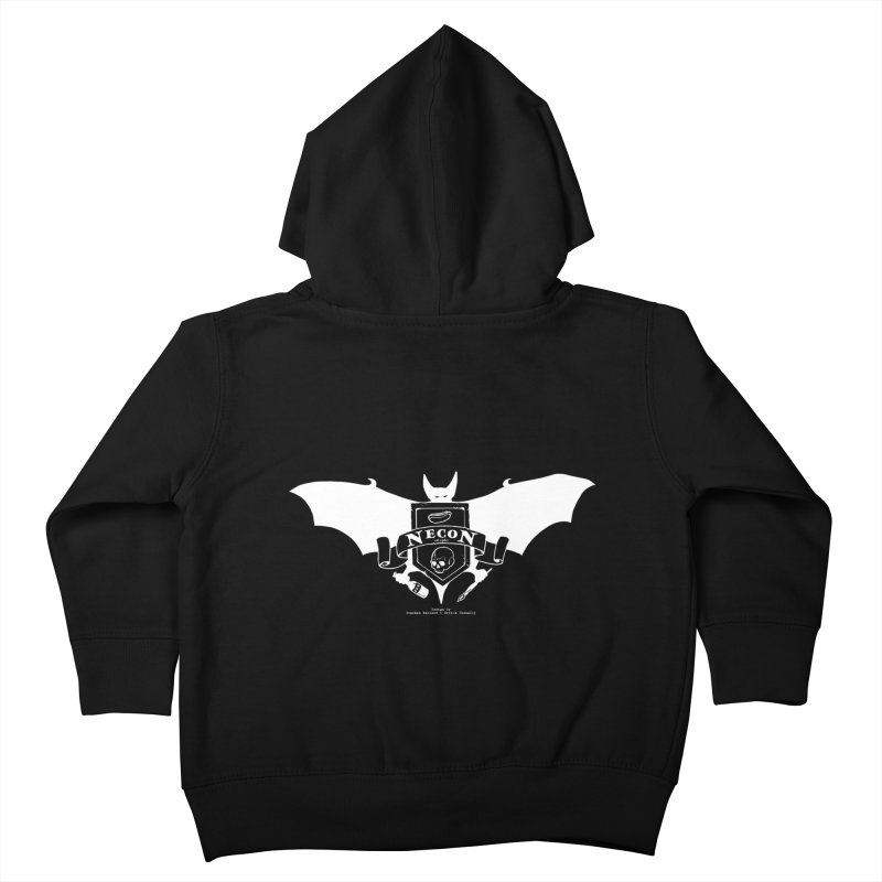 Official Camp Necon Logo (Black Apparel) Kids Toddler Zip-Up Hoody by The Official Camp Necon Store