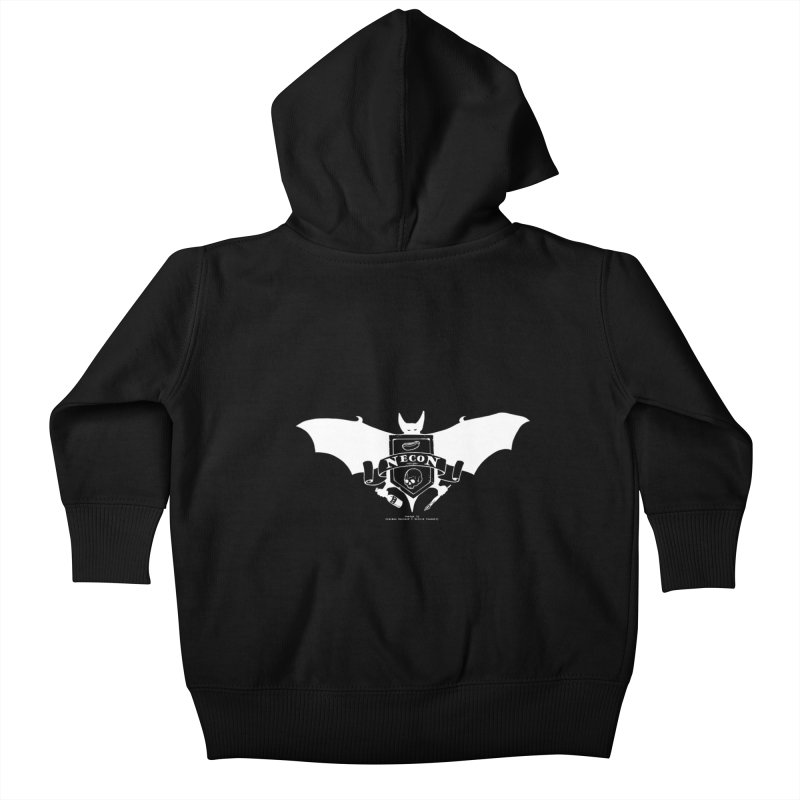 Official Camp Necon Logo (Black Apparel) Kids Baby Zip-Up Hoody by The Official Camp Necon Store