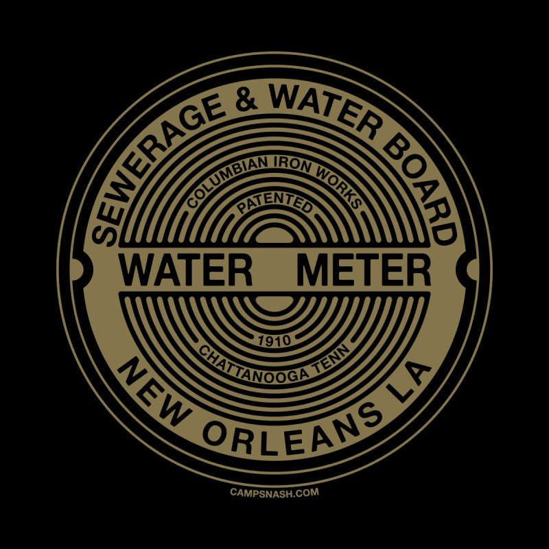 Lesser Known Water Meter Covers of New Orleans: Columbian Iron Works Men's T-Shirt by campsnash of New Orleans