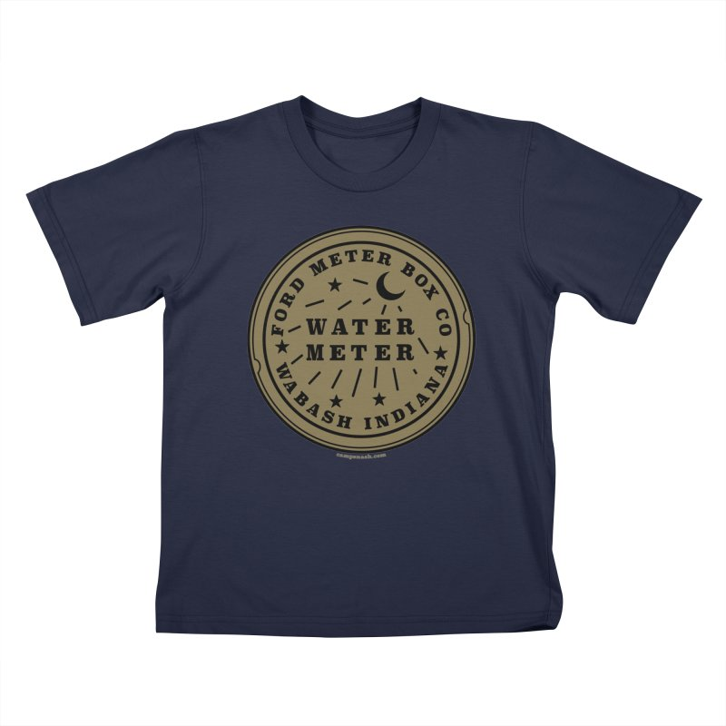 Lesser Know Water Meter Covers of NOLA: The Other Crescent City one Kids T-Shirt by campsnash of New Orleans