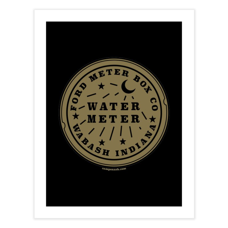 Lesser Know Water Meter Covers of NOLA: The Other Crescent City one Home Fine Art Print by campsnash of New Orleans