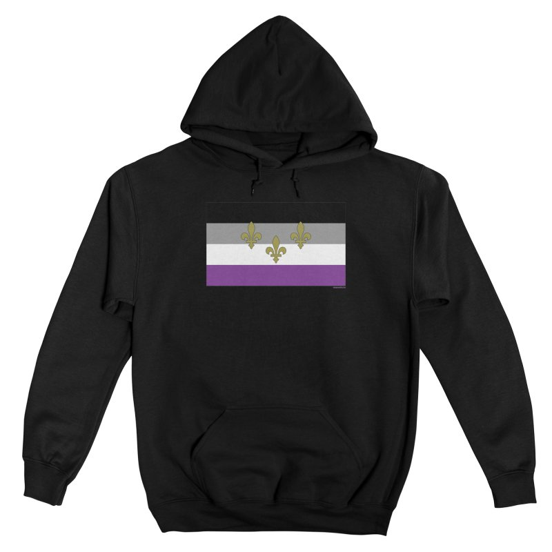 New Orleans City Pride Flag: Asexual Women's Pullover Hoody by campsnash of New Orleans