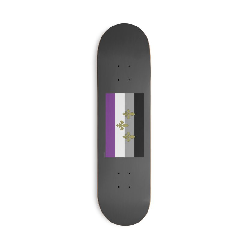New Orleans City Pride Flag: Asexual Accessories Skateboard by campsnash of New Orleans