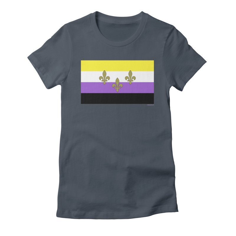 New Orleans City Pride Flag: NonBinary Women's T-Shirt by campsnash of New Orleans