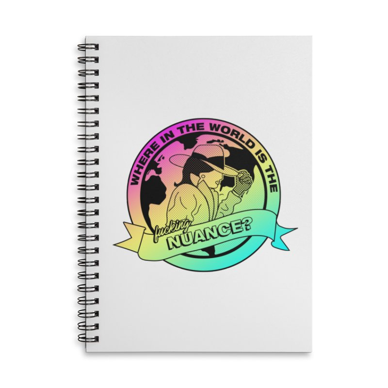 Where is the Nuance II Accessories Lined Spiral Notebook by lil merch