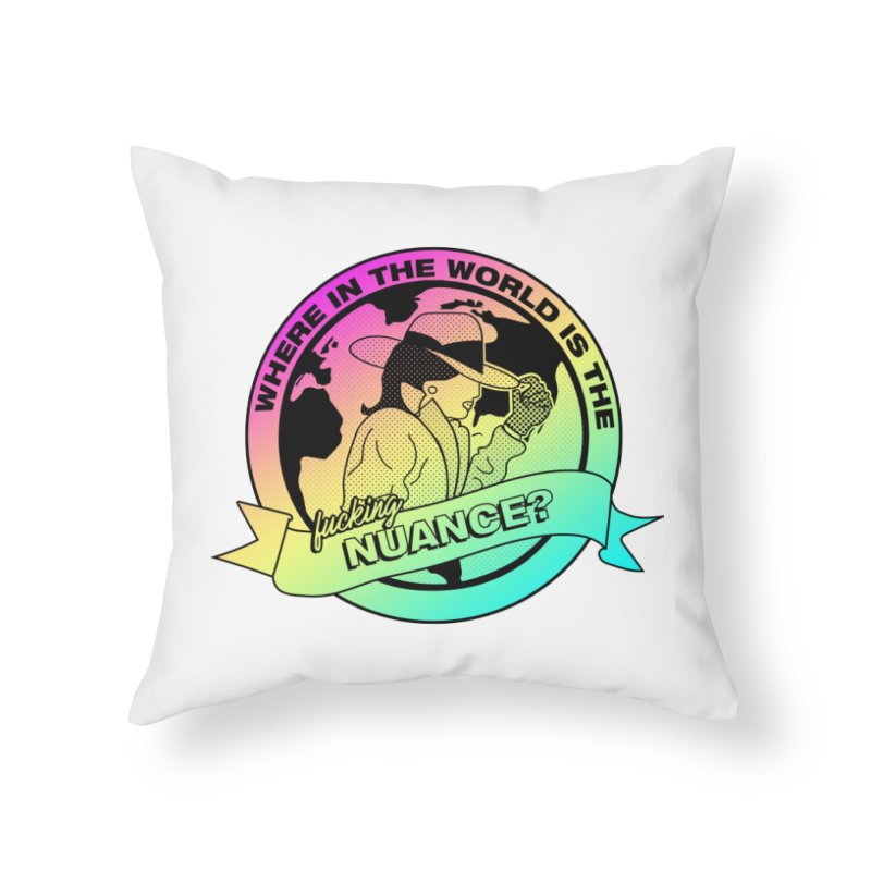 Where is the Nuance II Home Throw Pillow by lil merch