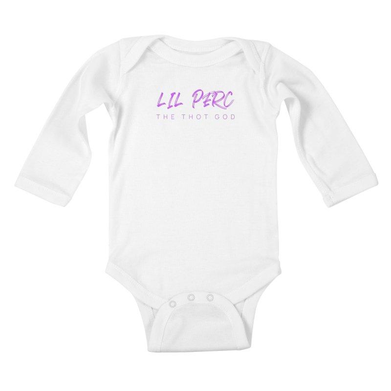 lil perc logo 2019 purp Kids Baby Longsleeve Bodysuit by lil merch