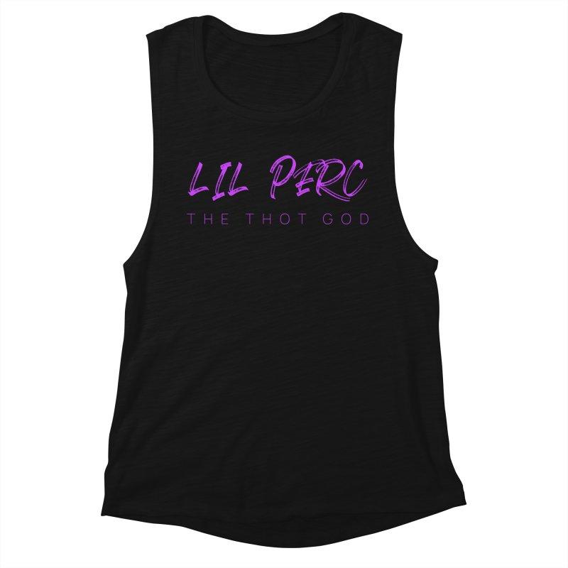 lil perc logo 2019 purp Women's Muscle Tank by lil merch