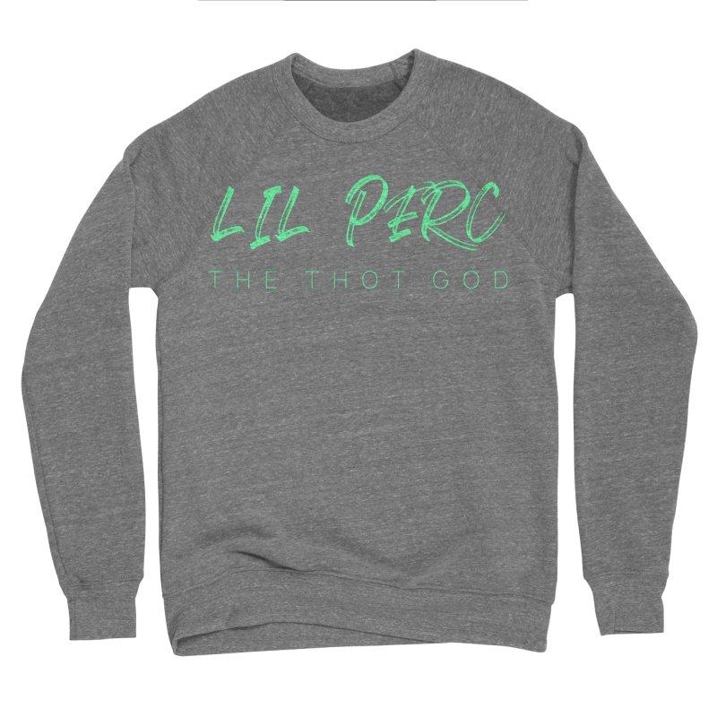 lil perc logo mint Men's Sponge Fleece Sweatshirt by lil merch