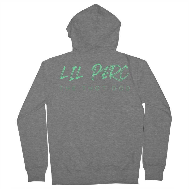 lil perc logo mint Women's French Terry Zip-Up Hoody by lil merch