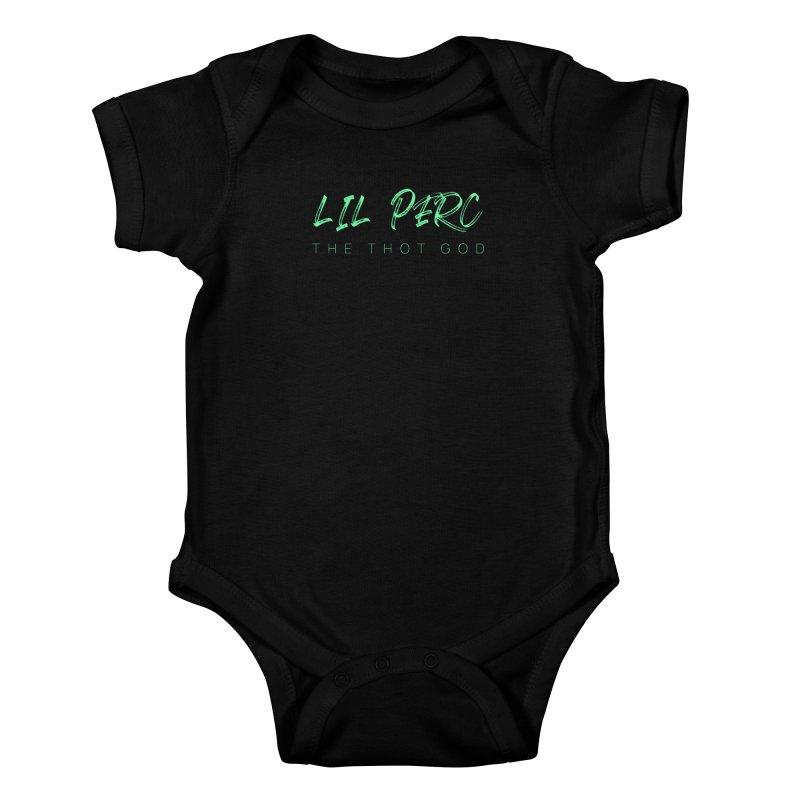 lil perc logo mint Kids Baby Bodysuit by lil merch
