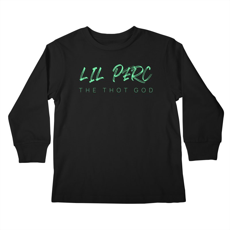 lil perc logo mint Kids Longsleeve T-Shirt by lil merch