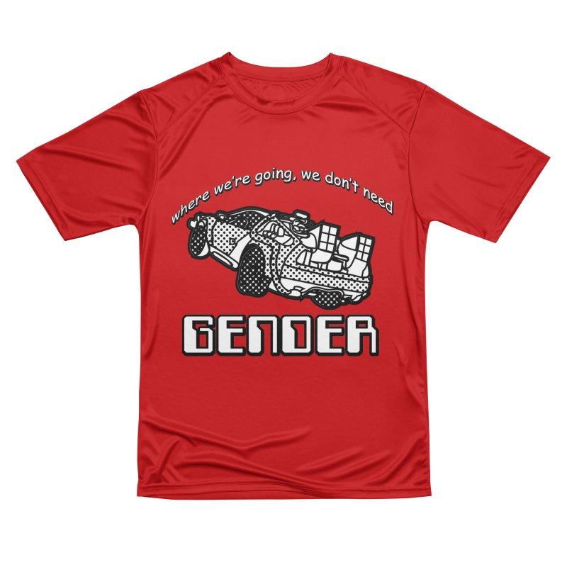 No Gender Delorean (BW) Men's Performance T-Shirt by lil merch