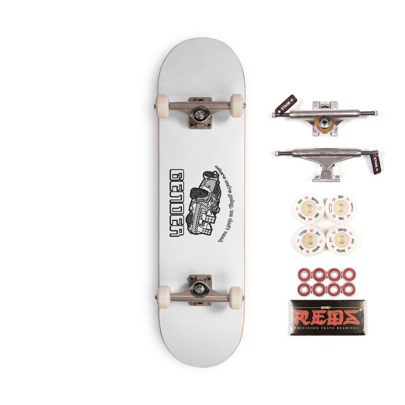 No Gender Delorean (BW) Accessories Complete - Pro Skateboard by lil merch
