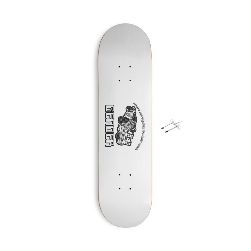 No Gender Delorean (BW) Accessories Skateboard by lil merch