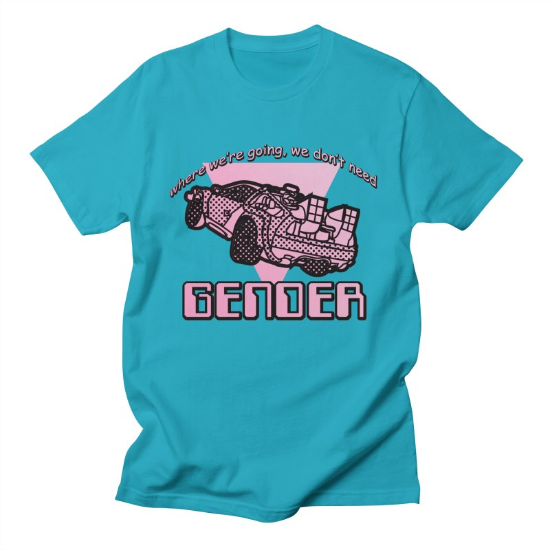 No Gender Delorean (Pink) Men's T-Shirt by lil merch
