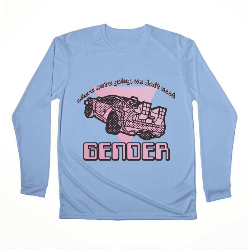 No Gender Delorean (Pink) Men's Performance Longsleeve T-Shirt by lil merch