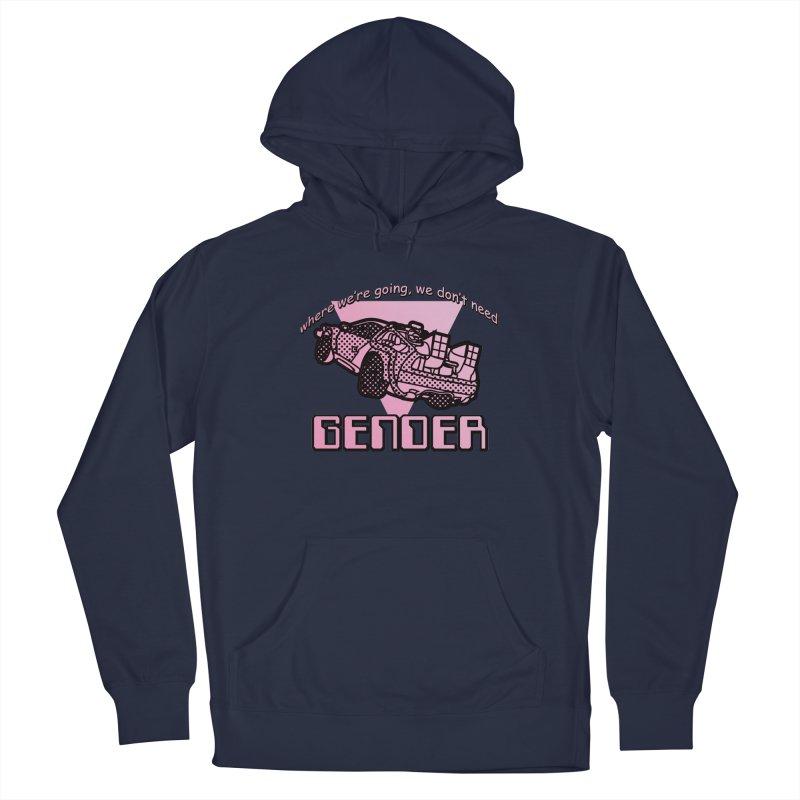 No Gender Delorean (Pink) Men's Pullover Hoody by lil merch