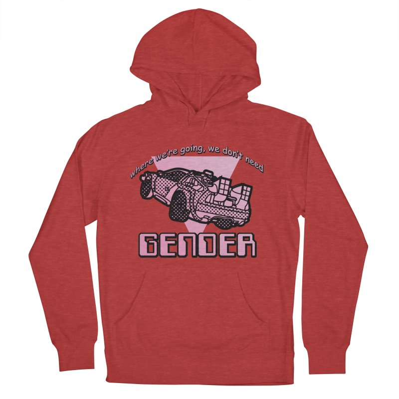 No Gender Delorean (Pink) Men's French Terry Pullover Hoody by lil merch