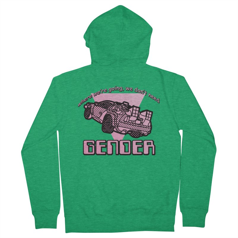 No Gender Delorean (Pink) Men's Zip-Up Hoody by lil merch