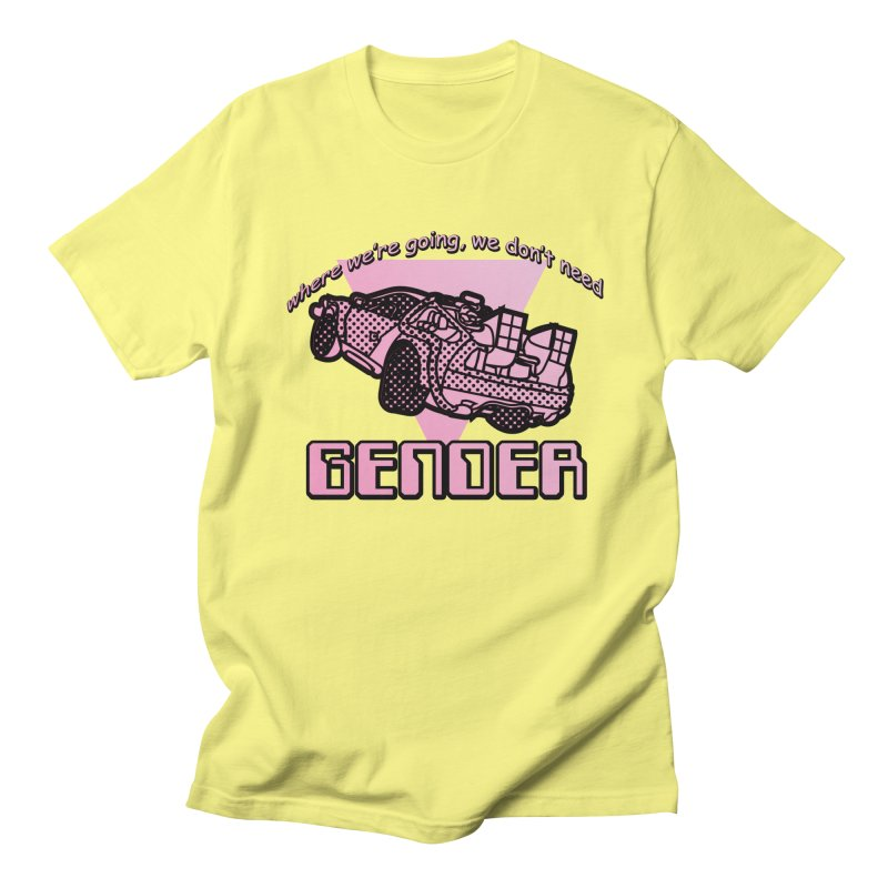 No Gender Delorean (Pink) Men's T-Shirt by lil merch