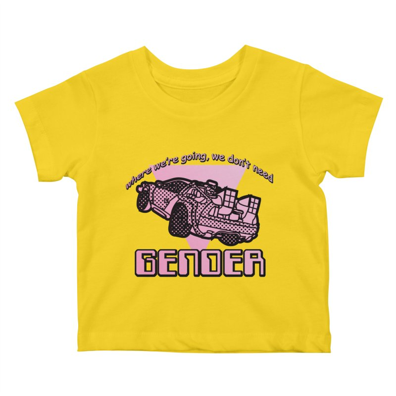 No Gender Delorean (Pink) Kids Baby T-Shirt by lil merch