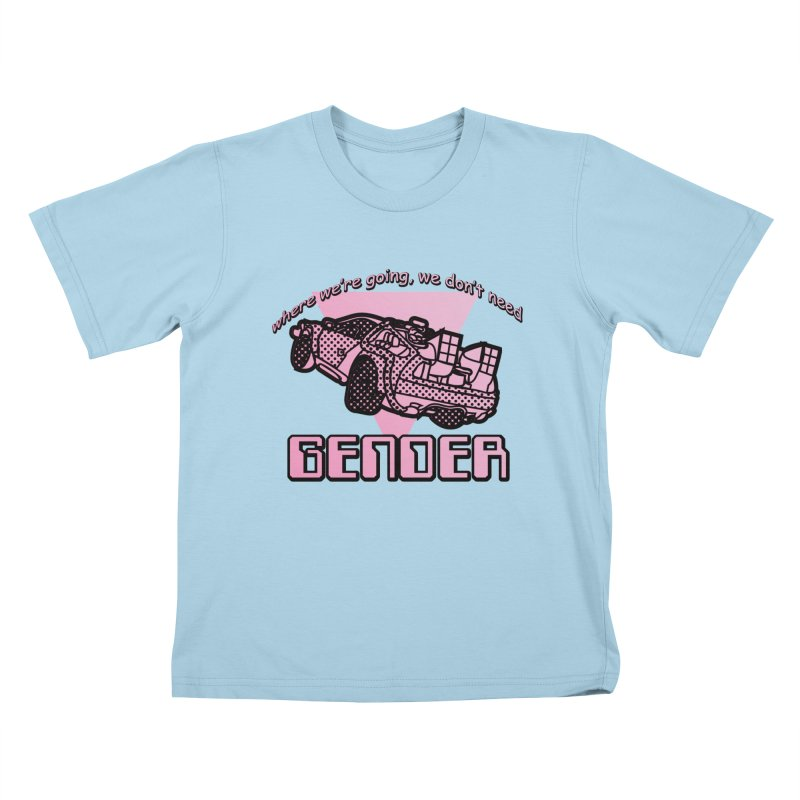 No Gender Delorean (Pink) Kids T-Shirt by lil merch