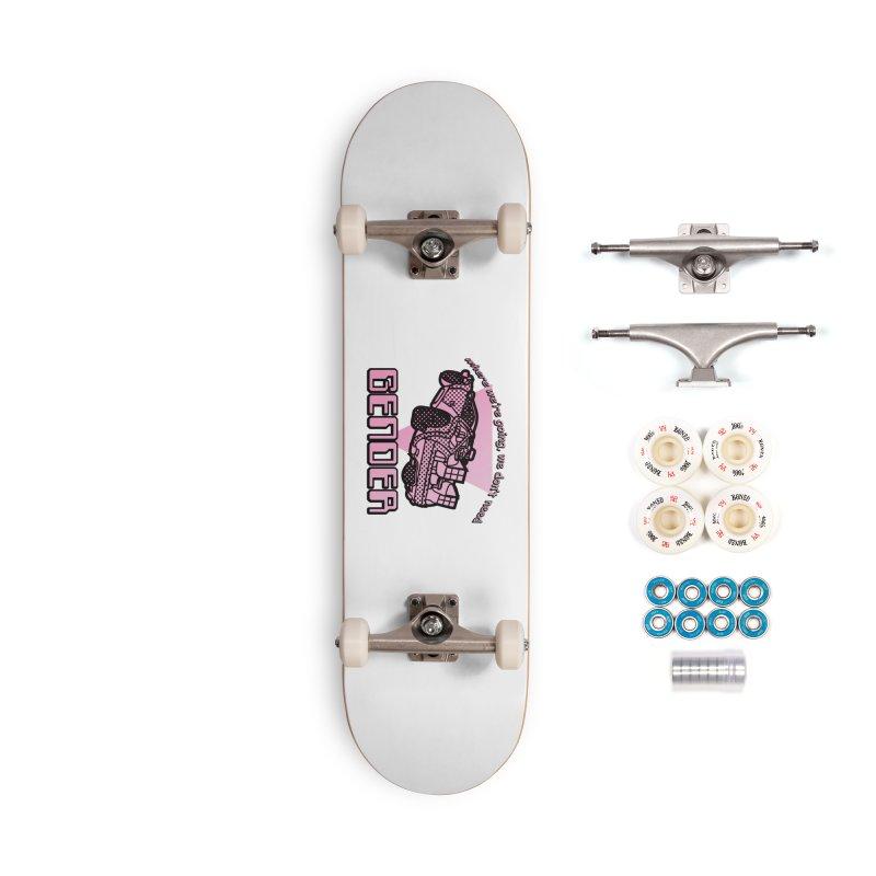 No Gender Delorean (Pink) Accessories Complete - Premium Skateboard by lil merch