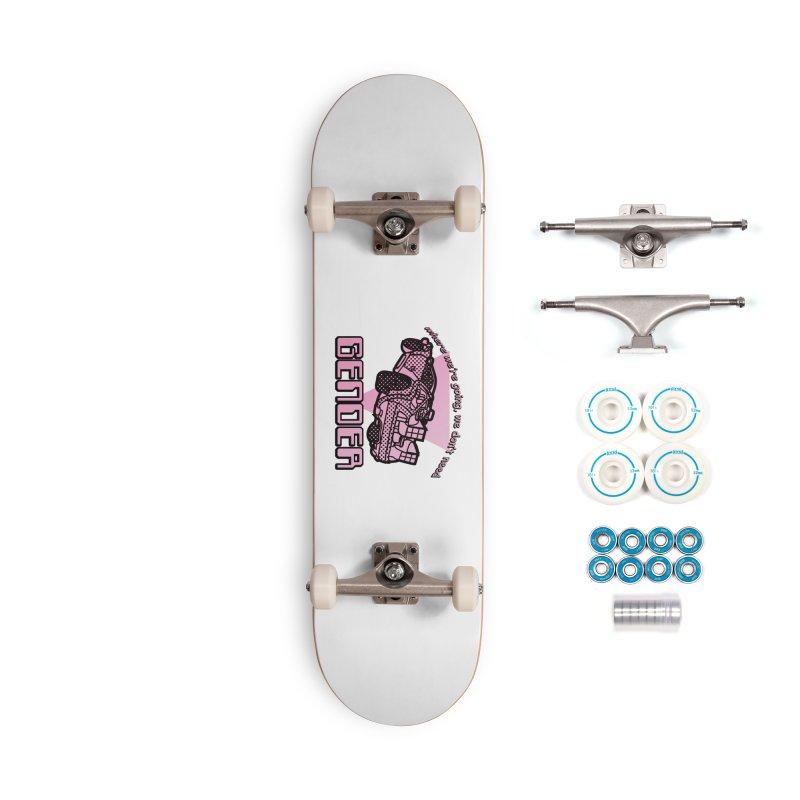 No Gender Delorean (Pink) Accessories Skateboard by lil merch