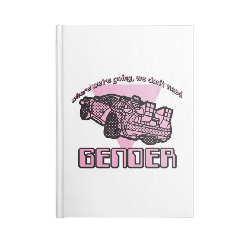 No Gender Delorean (Pink) Accessories Lined Journal Notebook by lil merch