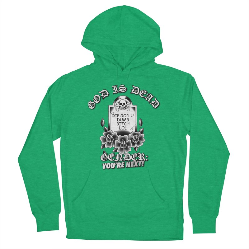 Gender You're Next! (BW) Women's French Terry Pullover Hoody by lil merch