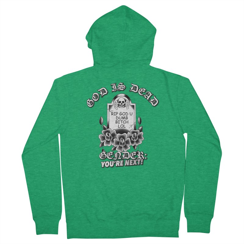 Gender You're Next! (BW) Men's Zip-Up Hoody by lil merch