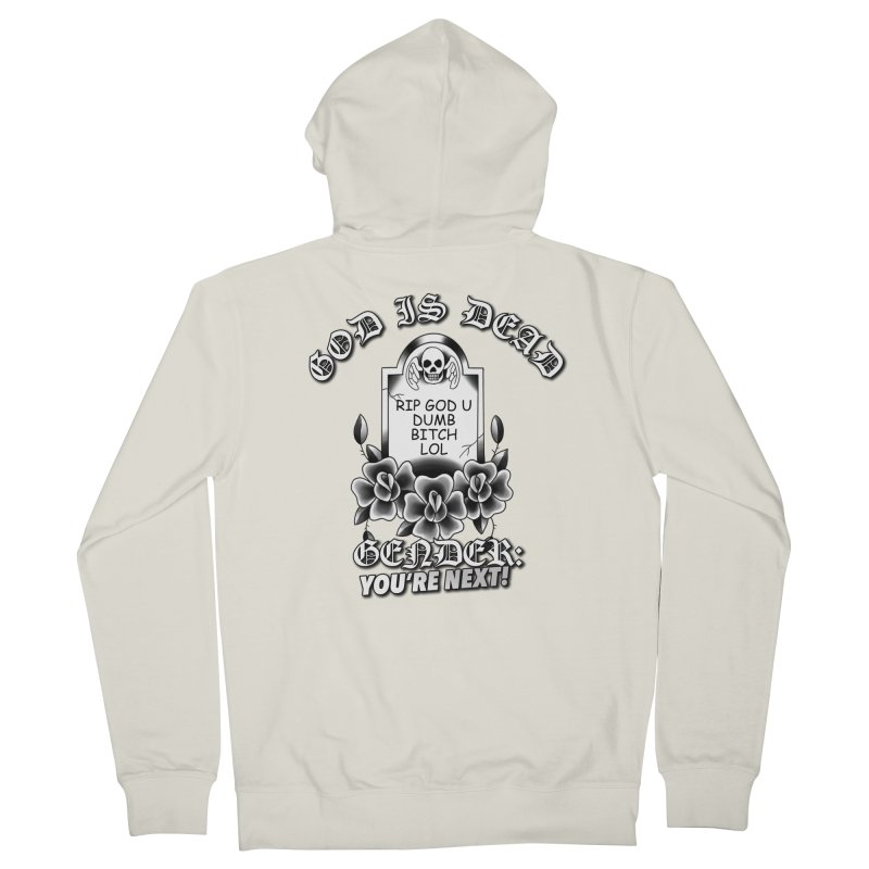 Gender You're Next! (BW) Men's French Terry Zip-Up Hoody by lil merch