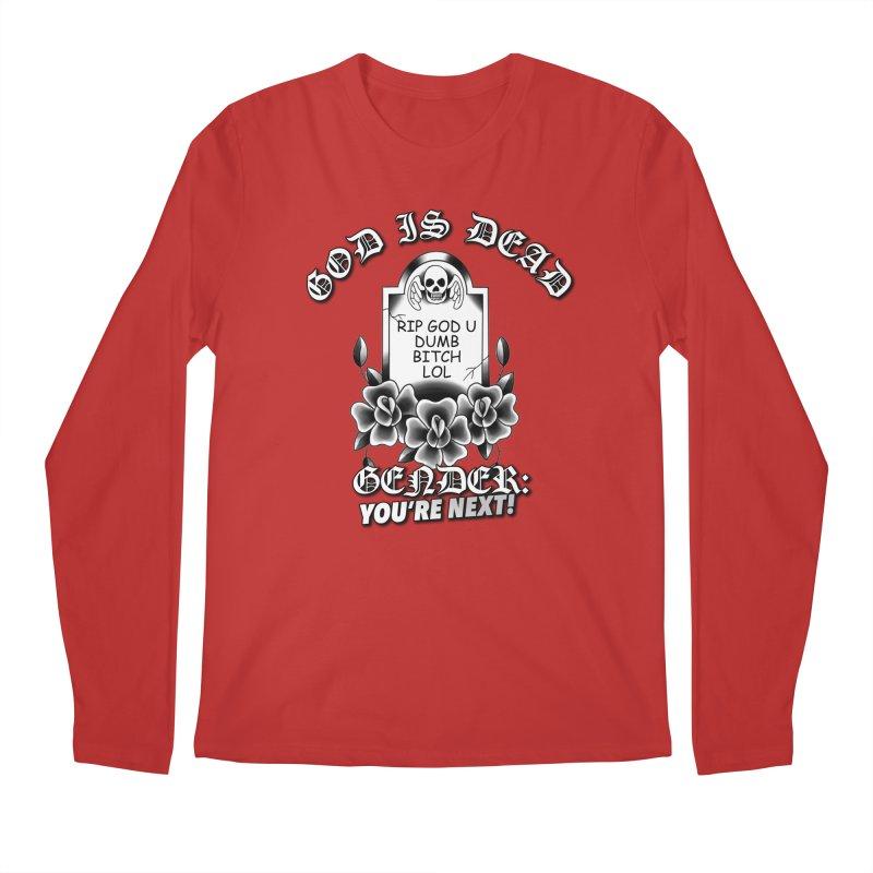 Gender You're Next! (BW) Men's Regular Longsleeve T-Shirt by lil merch