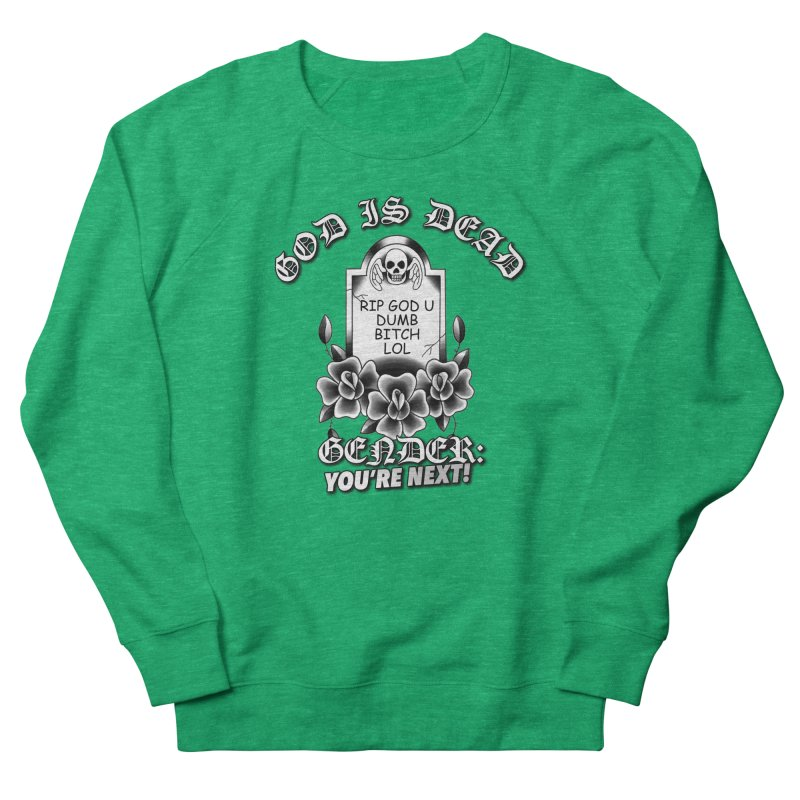 Gender You're Next! (BW) Men's French Terry Sweatshirt by lil merch