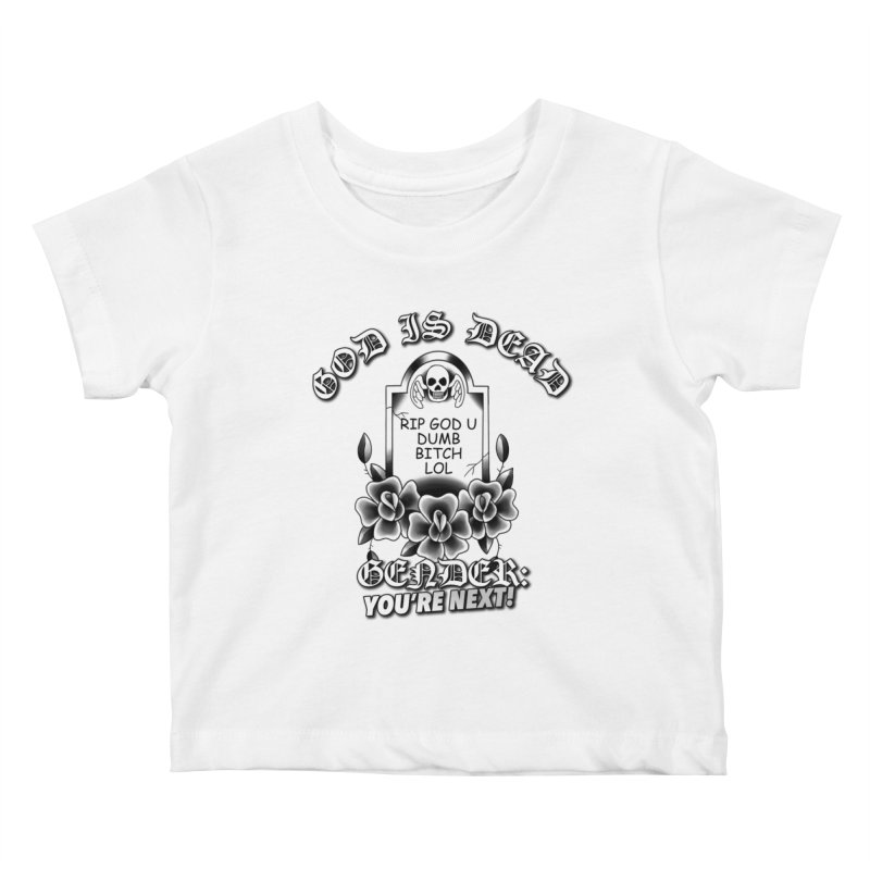 Gender You're Next! (BW) Kids Baby T-Shirt by lil merch