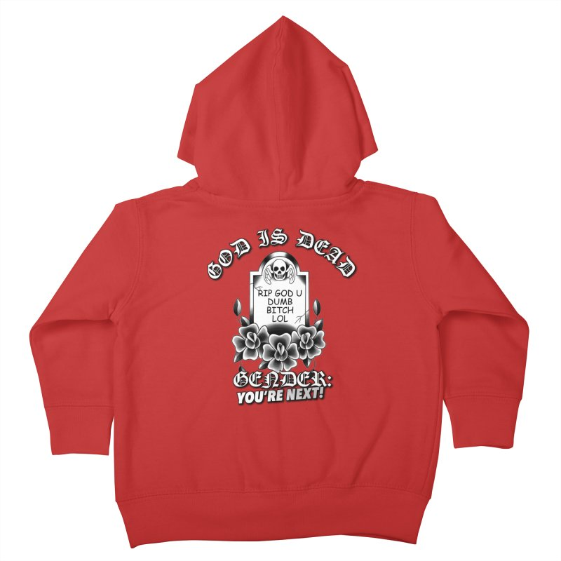 Gender You're Next! (BW) Kids Toddler Zip-Up Hoody by lil merch