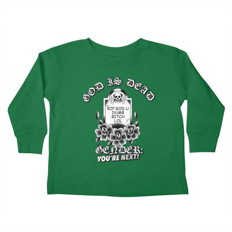 Gender You're Next! (BW) Kids Toddler Longsleeve T-Shirt by lil merch