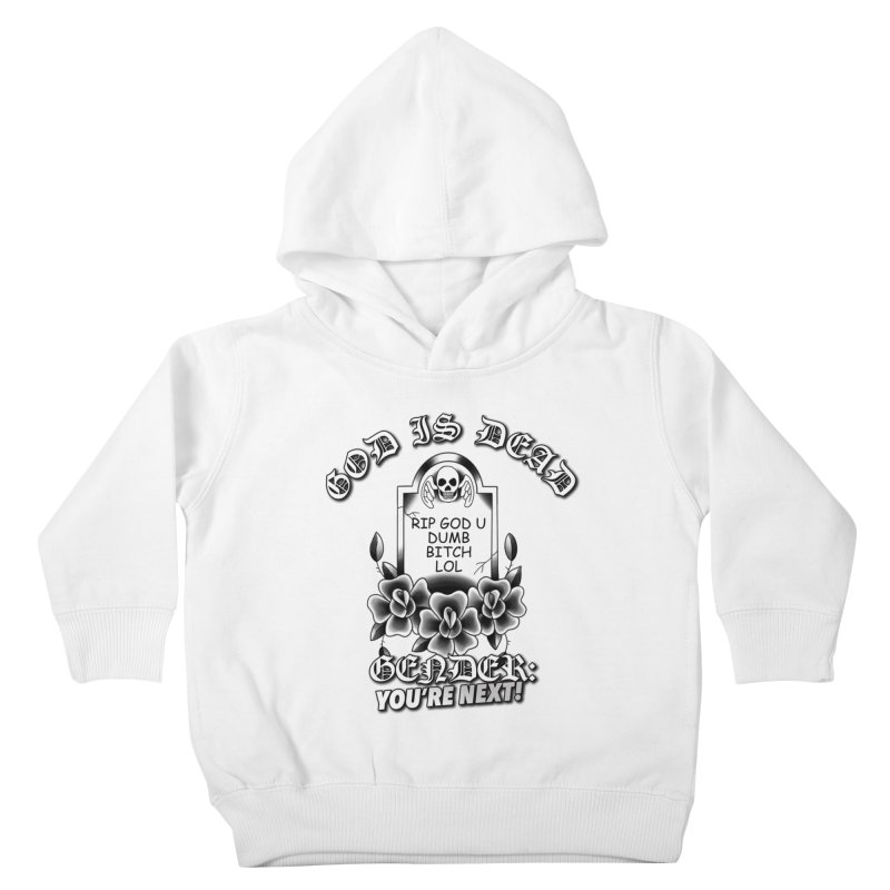Gender You're Next! (BW) Kids Toddler Pullover Hoody by lil merch