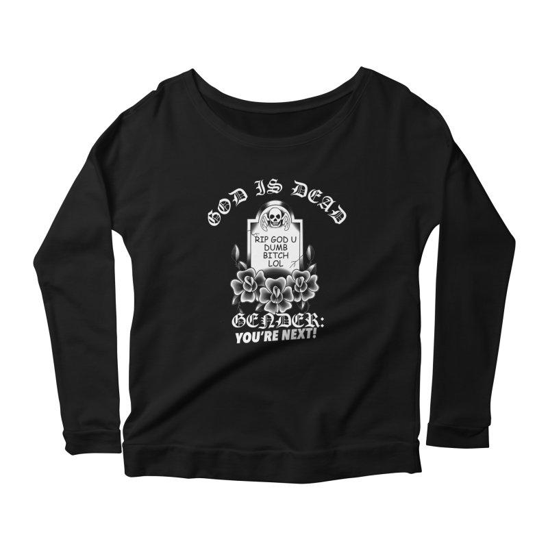 Gender You're Next! (BW) Women's Scoop Neck Longsleeve T-Shirt by lil merch