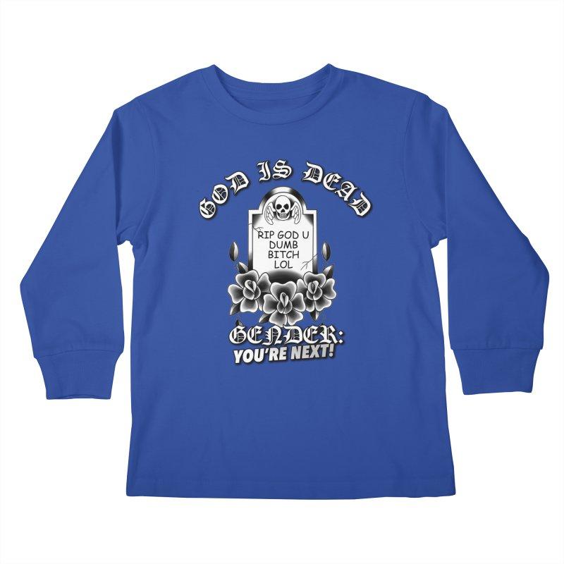 Gender You're Next! (BW) Kids Longsleeve T-Shirt by lil merch