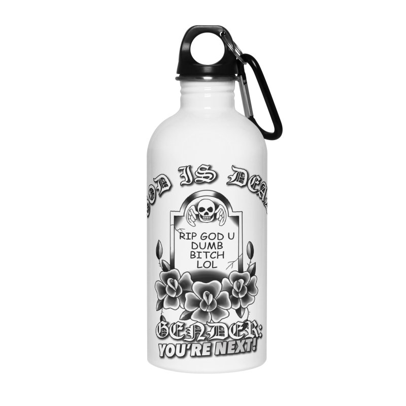 Gender You're Next! (BW) Accessories Water Bottle by lil merch
