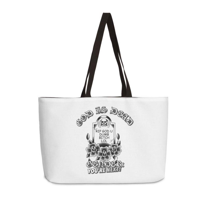 Gender You're Next! (BW) Accessories Weekender Bag Bag by lil merch