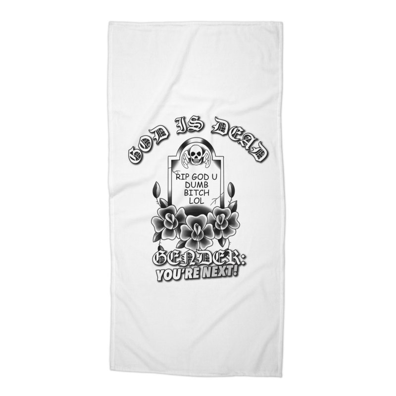Gender You're Next! (BW) Accessories Beach Towel by lil merch