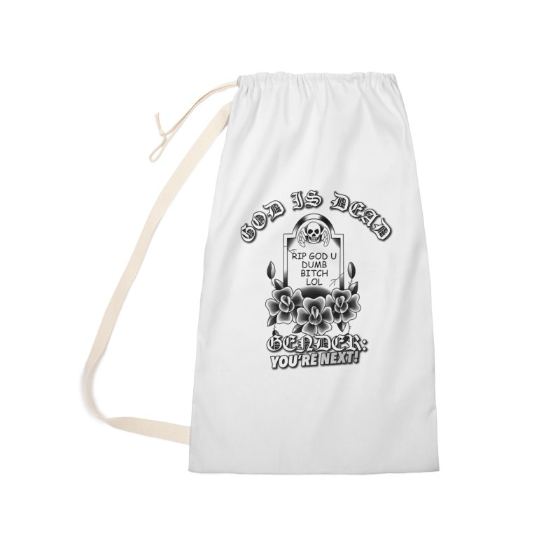 Gender You're Next! (BW) Accessories Laundry Bag Bag by lil merch